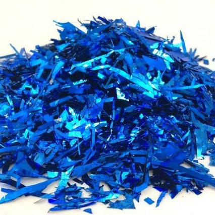 Конфетти синяя мишура  цвет  125 гр