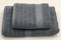 Махровий рушник Gestepe Luxe 50-90 см темно сіра, фото 1