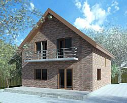 3-d визуализация фасада дома или коттеджа