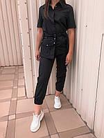 Жакет T011 со съемным карманом, чёрный, фото 1