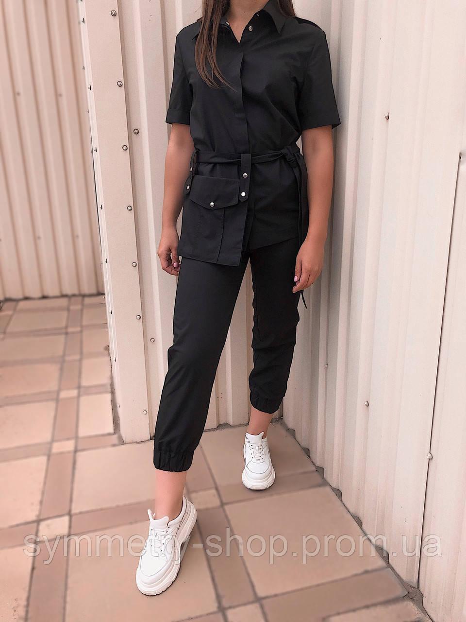 Жакет T011 со съемным карманом, чёрный