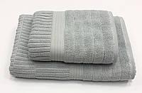 Махровий рушник Gestepe Luxe 50-90 см сіре, фото 1