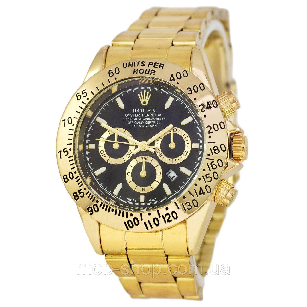 Наручные часы Rolex Daytona Quartz Date Gold-Black