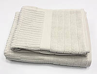 Махровий рушник Gestepe Luxe 50-90 см світло сіра, фото 1