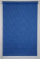 Готовые рулонные шторы 875*1500 Ткань Вода 2090 Синий, фото 1