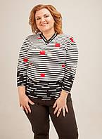 Женский свитер с геометрическим принтом