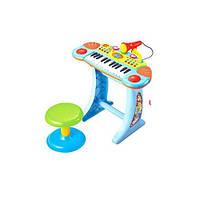 Пианино синтезатор со стульчиком BB33 голубой