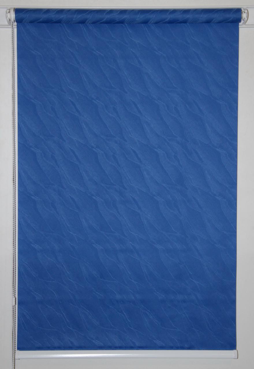 Готовые рулонные шторы 950*1500 Ткань Вода 2090 Синий