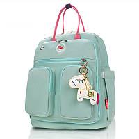 Сумка рюкзак для мам Lagaffe 17079-2 из эко ткани с водоотталкивающими свойствами, с 16 карманами, 15л