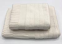 Махровий рушник Gestepe Luxe 50-90 см крем, фото 1