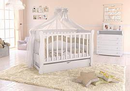 Дитяче ліжечко Angelo Lux-1 Біле