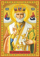 Схема для вышивки икона Святой Николай