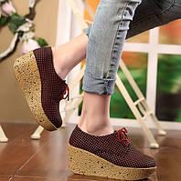 Туфли на платформе , 3 цвета