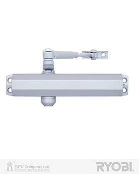 Доводчик для двери регулирующий RYOBI 2000 D-2005V SILVER BC STD_ARM EN_3/4/5 до_100кг 1250мм FIRE