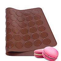 """Силиконовый коврик для выпечки """"Macarons"""" (цвет коврика в ассортименте)"""