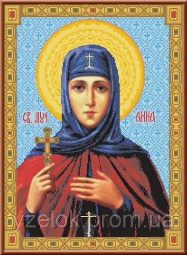 Вышивка иконы святой анны
