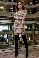 Женственное короткое платье с рукавом летучая мышь 1273 (42–48р) в расцветках, фото 1