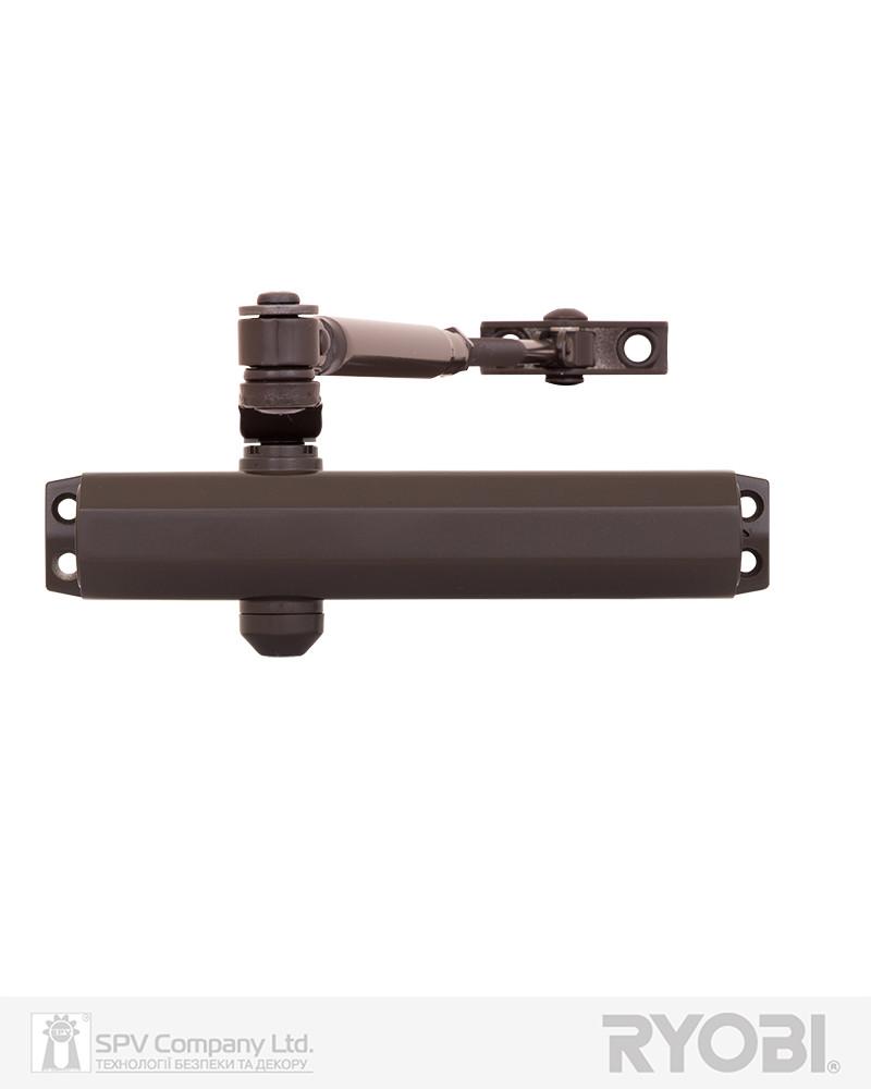 Дверной накладной доводчик RYOBI 2000 D-2005V DARK_BRONZE BC STD_ARM EN_3/4/5 до_100кг 1250мм FIRE