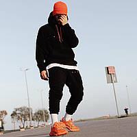 😜 Спортивный костюм -Стильный мужской спортивный черный (верх худи)