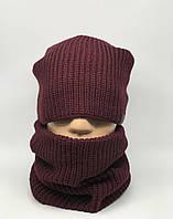 Комплект шарф снуд и шапка Ozzi 139/27 бордо
