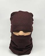 Комплект шарф снуд и шапка Ozzi 95/z016 бордо