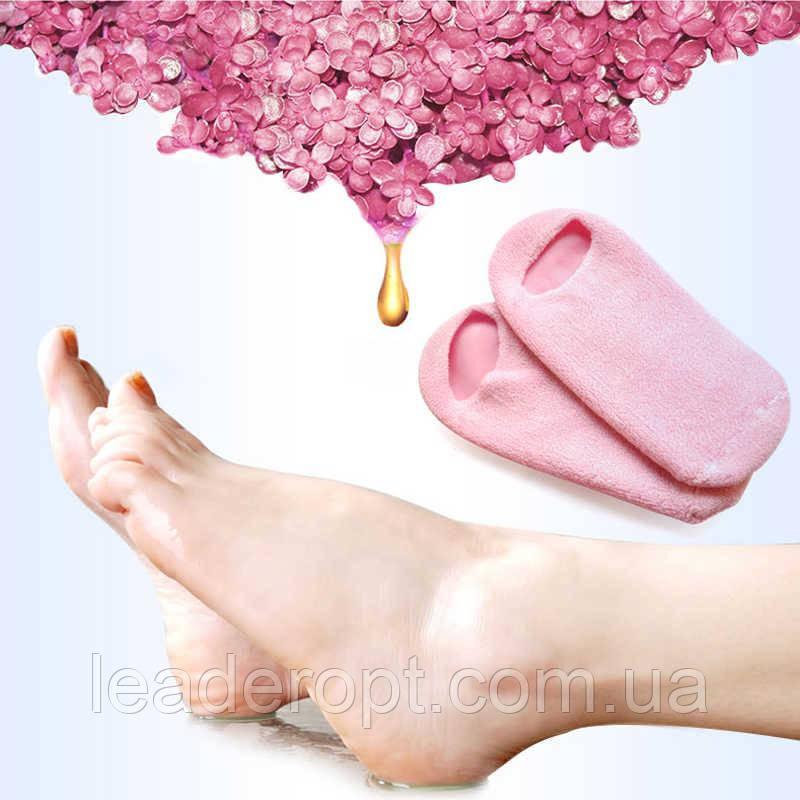 [ОПТ] Гелевые носочки SPA Gel Socks для педикюра, увлажняющие, с маслом жожоба и витамином Е.