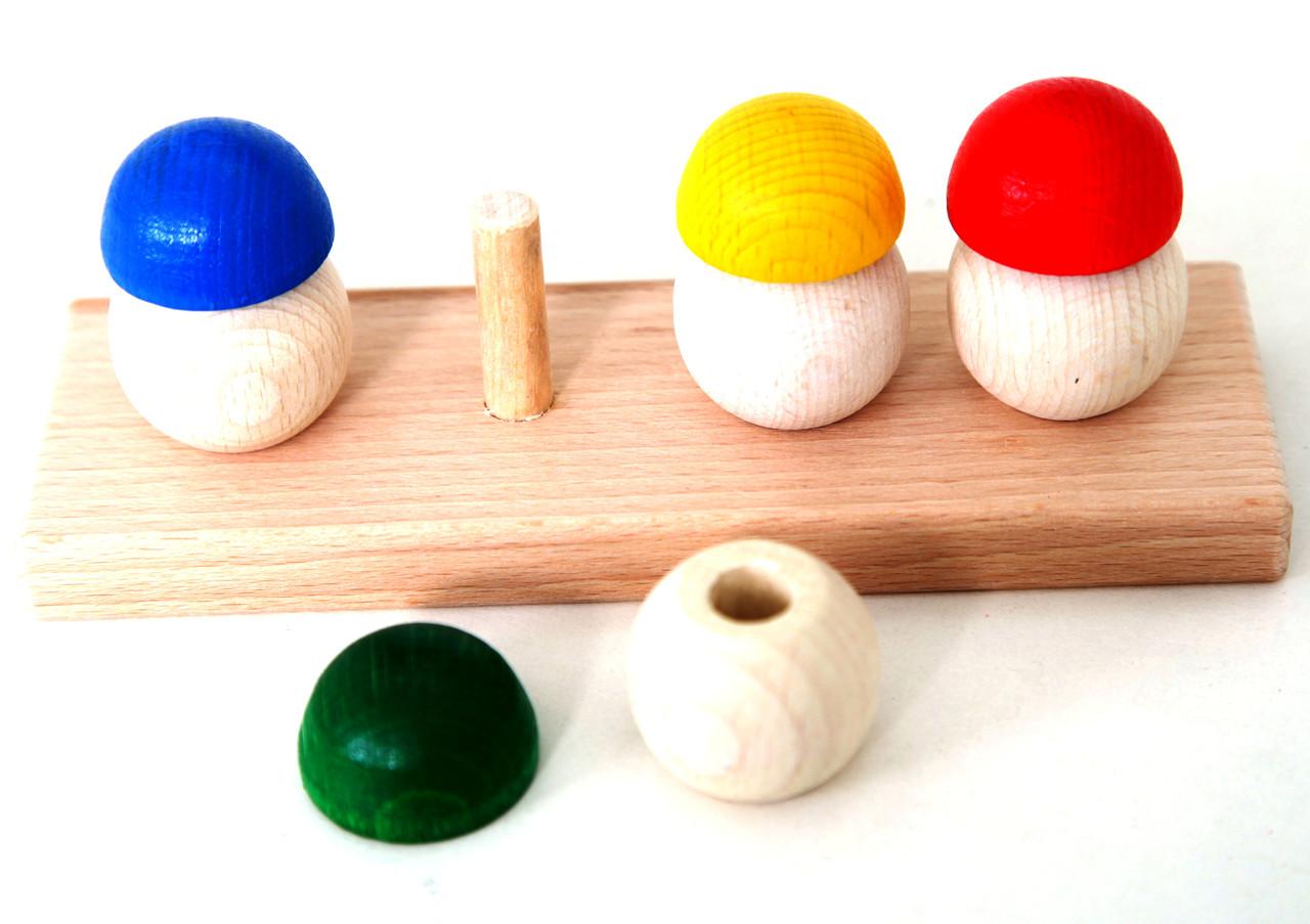 Деревянная игра грибочки