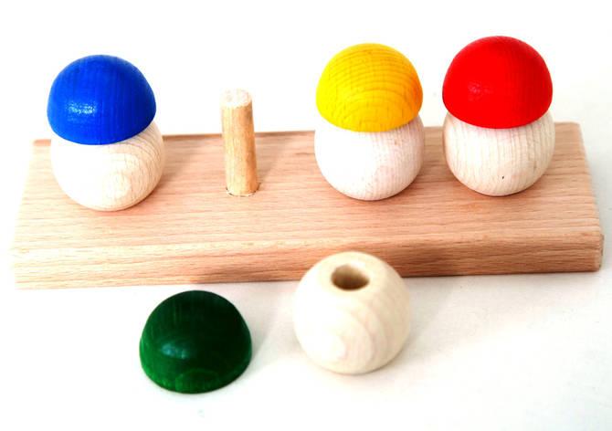 Деревянная игра грибочки , фото 2