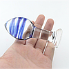 Анальная пробка стеклянная BLUE DREAM
