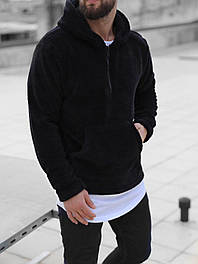 Худи - Мужская махровая худи (черная)