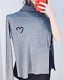 Гольфик жіночий чорний, білий, сірий, капучіно, фото 4