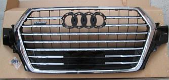 Решетка радиатора Audi Q7 4M (16-19) хром рамка