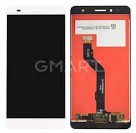 Дисплей для Huawei Honor 5X белый (LCD экран, тачскрин, стекло в сборе), Дисплей Huawei Honor 5X білий (LCD екран, тачскрін, скло в зборі)