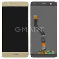 Дисплей для Huawei P10 Lite золотистый (LCD экран, тачскрин, стекло в сборе), Дисплей Huawei P10 Lite золотистий (LCD екран, тачскрін, скло в зборі)