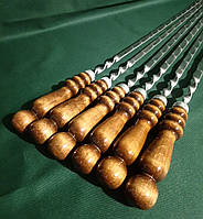 Набор шампуров с деревянными ручками 6 шт.