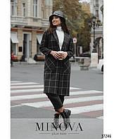 Женское шерстяное пальто 0325 графит цвет