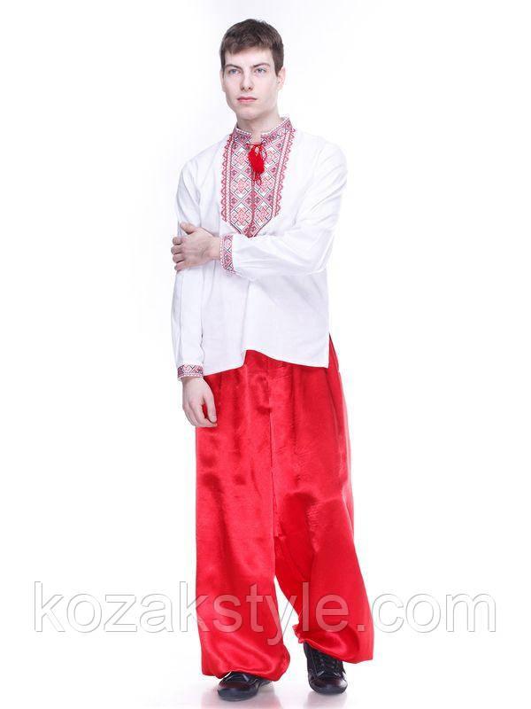 Шаровари козацькі чоловічі червоні