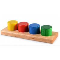 Развивающая игрушка из дерева цилиндры-цвет