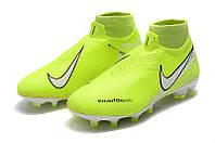 Футбольные бутсы Nike Phantom Vision Elite DF FG Volt/White/Barely Volt