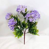 Сиреневый олеандр 35см куст с искусственными цветами из пластика, фото 1