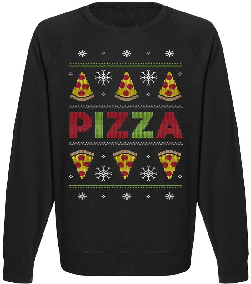 Мужской свитшот Pizza Party (чёрный)