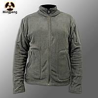 """🔥 Куртка / Кофта флисовая тактическая """"Migpeng. Commander"""" (серая) кофта нацгвардии, зсу, тактическая, теплая"""