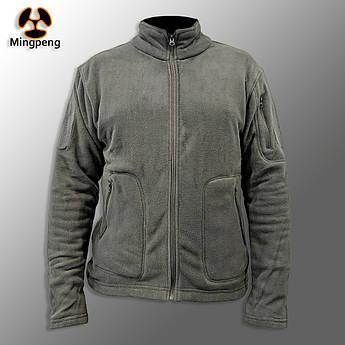 """🔥 Куртка / Кофта флисовая тактическая """"Migpeng. Commander"""" (серая) кофта нацгвардии, зсу, полевая, теплая"""