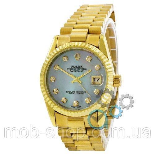 Наручные часы Rolex Date Just Gold-Blue Pearl
