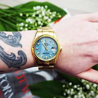 Наручные часы Rolex Date Just Gold-Blue Pearl, фото 4