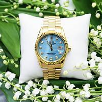 Наручные часы Rolex Date Just Gold-Blue Pearl, фото 5