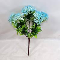 Блакитний олеандр 35см кущ з штучними квітами з пластику, фото 1