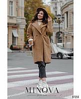 Женское  кашемировое пальто 991коричневого цвета