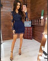 Платье-мини с бахромой (S-M)