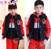 Детский спортивный костюм тройка Д-672-О, фото 1